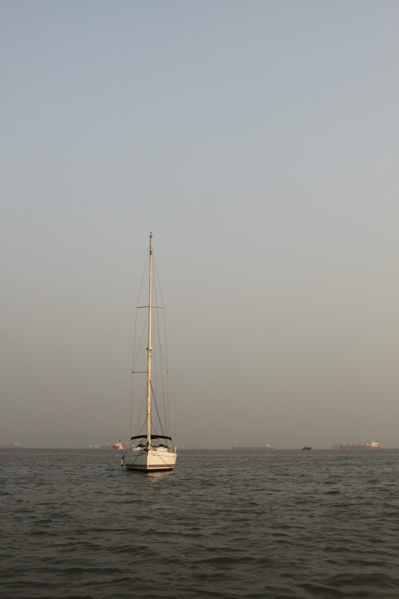A Sailboat on the sea - Mumbai harbour