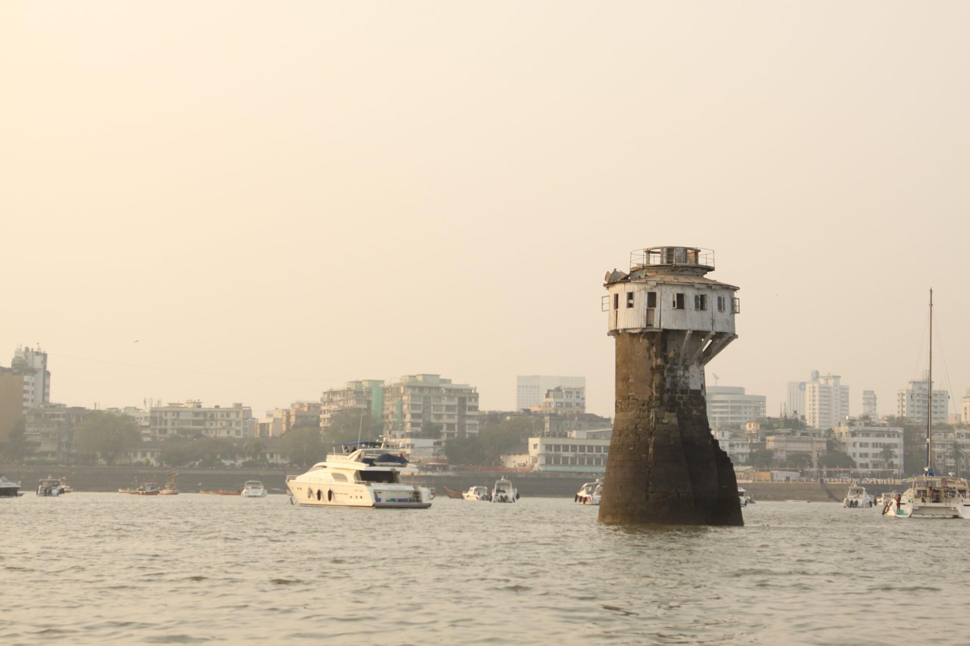 Sailing in Mumbai - a lighthouse on the Mumbai Harbour