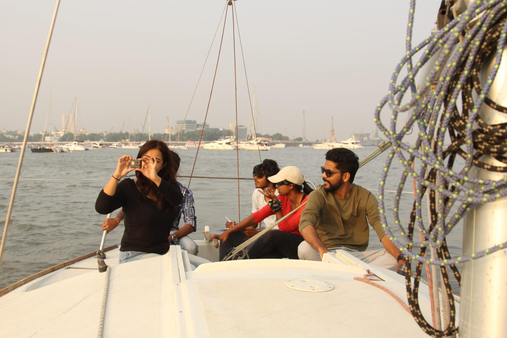 Enjoying the cruise - mumbai sailing
