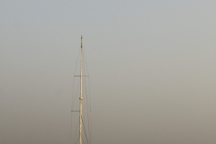 A Sailboat on the sea - Mumbai harbour