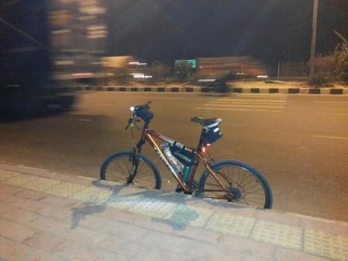 My Steed - Taking a break after entering Delhi