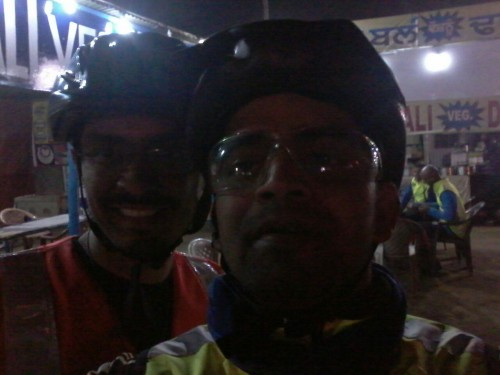 Selfie with Aftab at the last time station - Murthal